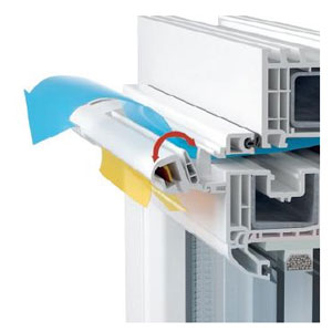 Схема клапана установленного на пластиковое окно