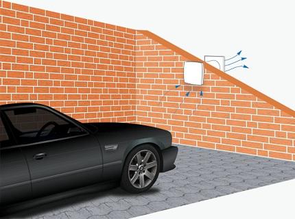 Клапан для гаражной вентиляции