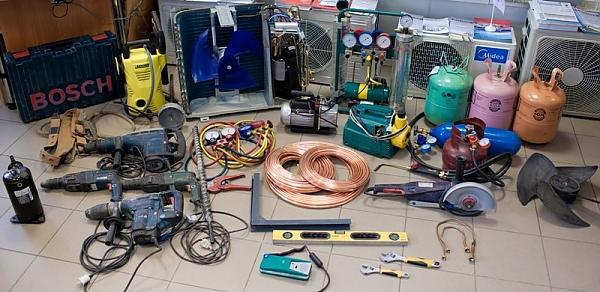 Необходимые инструменты для самостоятельной установки кондиционера