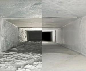 Разница после прочистки вентиляции