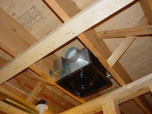 Bathroom exhaust fan outside wall