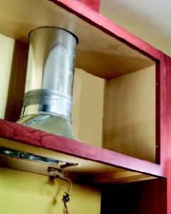 Установка вытяжки в шкаф