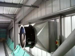 Механизм вентиляции для склада