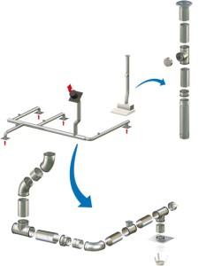 Устройство вентиляционных каналов