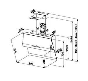 Расчёты высоты установки вытяжки