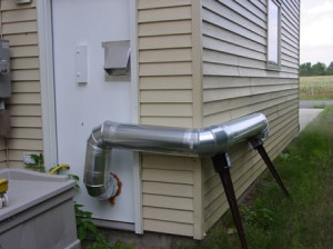 Вытяжка гаража снаружи