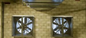 Встроенные в стены вентилятора от дыма