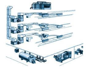 Схема вентиляции в здании