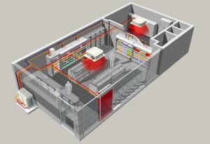 Система вентиляции в магазине