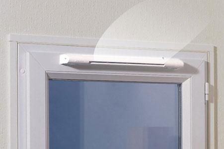 Клапан установленный в окне