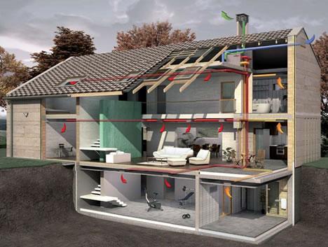 Пример монтажа частного дома