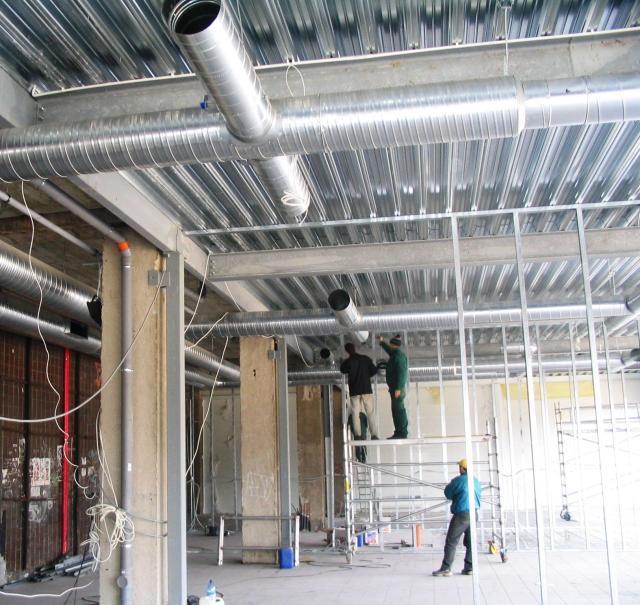 Монтаж вентиляционной системы промышленного предприятия