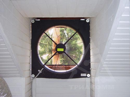 Установленный в доме приточный вентилятор