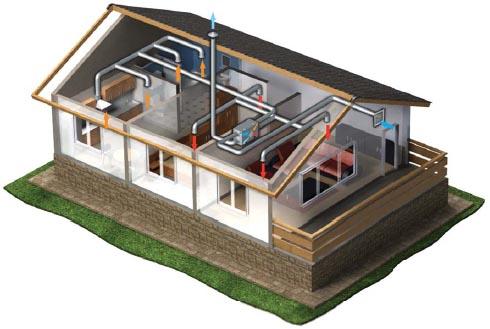 Схема работы приточно-вытяжной установки
