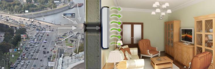 Пример работы приточной вентиляционной установки