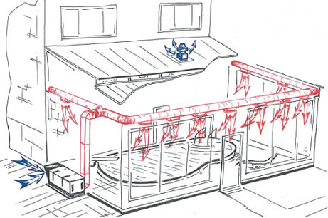 Расчет движения воздуха в бассейне