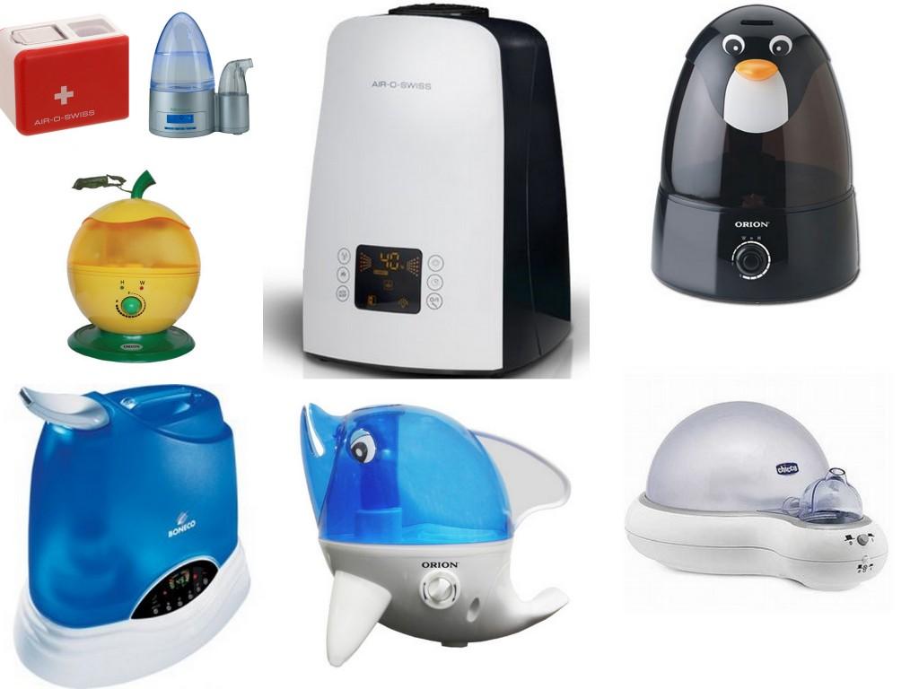 Разновидности увлажнителей воздуха