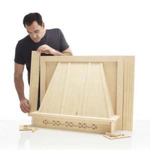 Деревянный короб для вытяжки