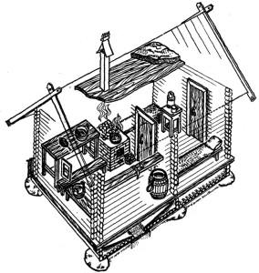 Схема бани с системой вентиляции