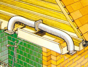 Схема вытяжки в ванной