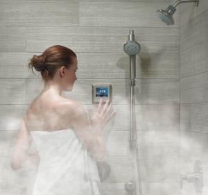 Пар в ванной