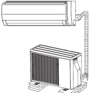 Схематика установки кондиционера