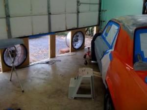 Вытяжка в гараже для покраски