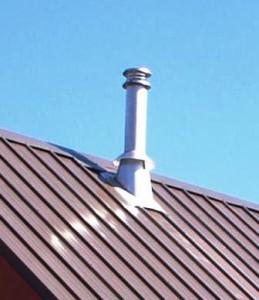 Вентиляционная труба над крышей