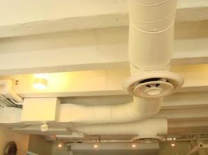 Система вентиляции на потолке