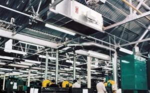 Вентиляция на производстве под потолком