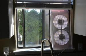 Форточное устройство для вентиляции