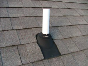 Вентиляция выходит на крышу