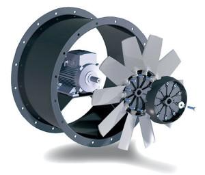 Конструкция осевого вентилятора