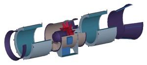 Составляющие осевого вентилятора
