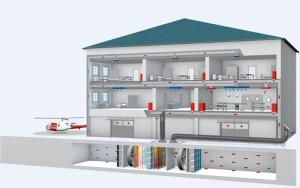 Вентиляционные каналы в больнице