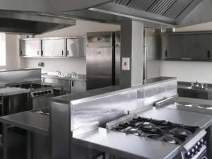 Система вентиляции в рабочем помещении столовой