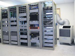 Серверная с главными компьютерами