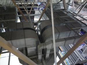 Вентиляция под крышей катка
